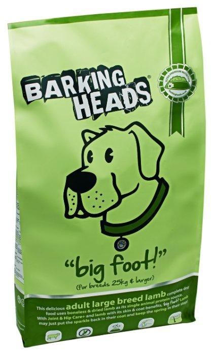 Barking Heads (12 кг) Для собак крупных пород с ягненком и рисом Ягненок для большелапого