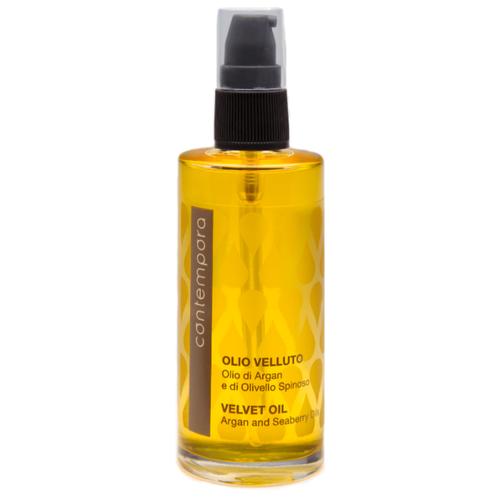 Купить Barex Contempora Масло разглаживающее Сияющий бархат Аргановое масло и масло Облепихи для волос, 75 мл