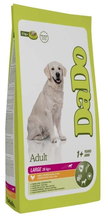 Корм для собак DaDo Для собак крупных пород с курицей и рисом