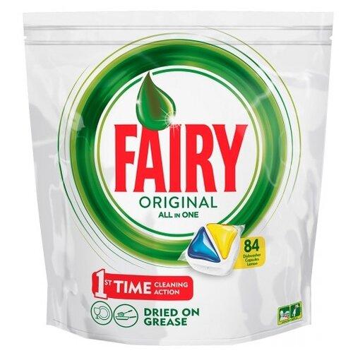 Fairy Original All in 1 капсулы (лимон) для посудомоечной машины 84 шт.Для посудомоечных машин<br>