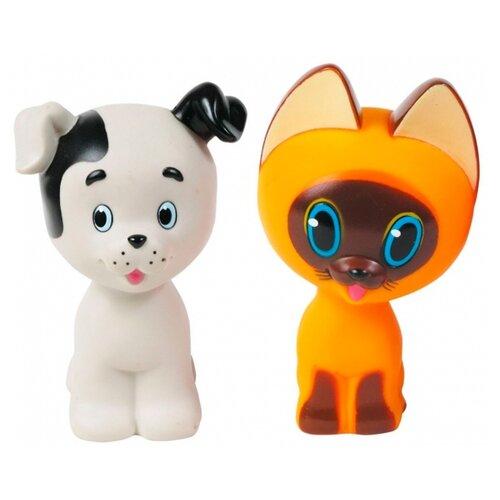 Купить Набор для ванной Играем вместе Котенок Гав и Щенок (136R-PVC) белый/оранжевый, Игрушки для ванной