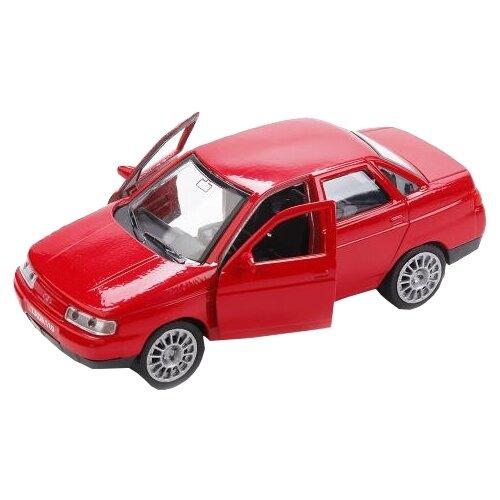 Купить Легковой автомобиль ТЕХНОПАРК Lada 2110 (SB-16-44-N-WB) 1:34 12 см красный, Машинки и техника