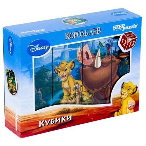 Купить Кубики-пазлы Step puzzle Disney Король Лев 87156, Детские кубики
