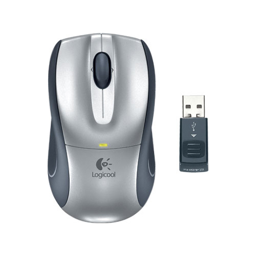 Мышь Logitech V320 Cordless Optical for Notebooks Black-Silver USB