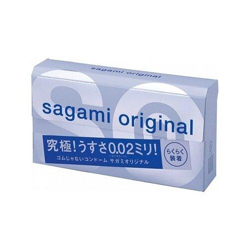 Презервативы Sagami Original 0.02 Quick (6 шт.) sagami 6 fit v premium 12шт презервативы супер облегающие латекс 0 06 мм