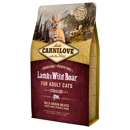 Carnilove Carnilove Lamb & Wild Boar Sterilised for adult cats (2 кг) Корма для кошек