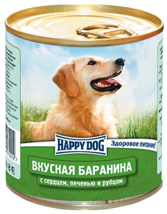 Корм для собак Happy Dog NaturLine баранина, сердце, печень, рубец 12шт. х 750г