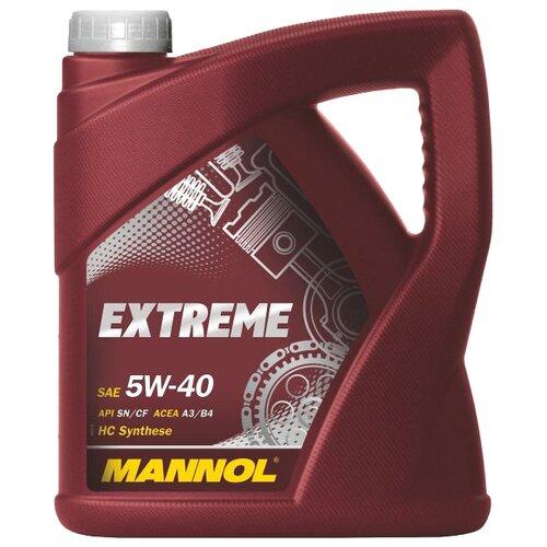 Моторное масло Mannol Extreme 5W-40 4 л моторное масло mannol extreme 5w 40 20 л