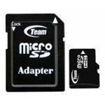 Карта памяти Team Group micro SDHC Card Class 4 + SD adapter