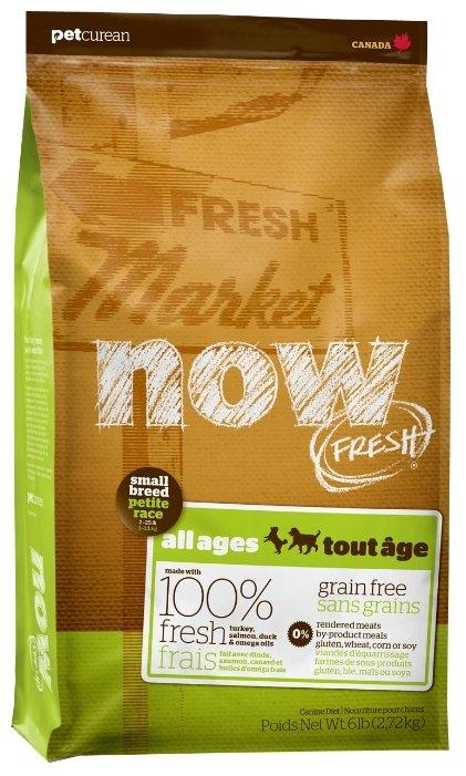 Now Natural Беззерновой Корм для собак Малых пород с Ягненком и Овощами Fresh Small Breed Recipe Red Meat Grain Free 27/17 2,72кг (48541)