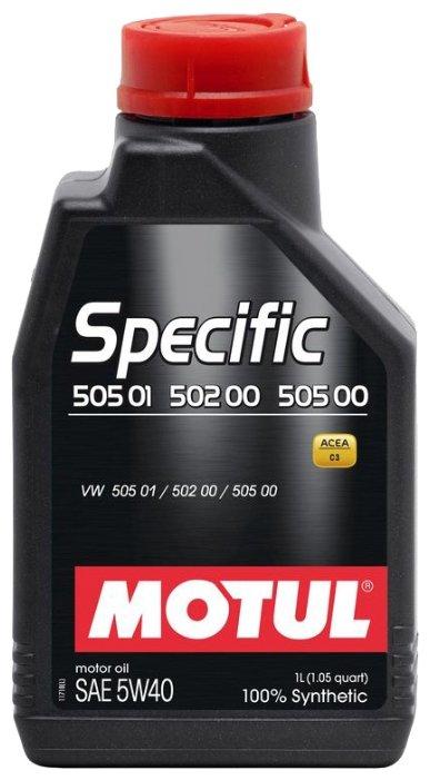 Моторное масло Motul Specific 502 00 505 00 505 01 5W40 1 л