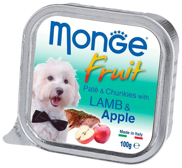 Корм для собак Monge Fruit ягненок с яблоком 32шт. х 100г