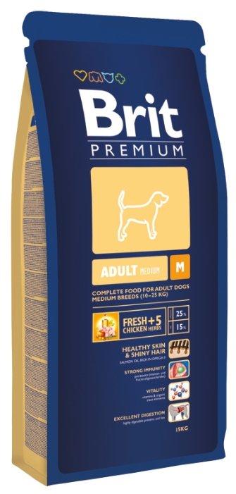 Brit Premium Adult M (15 кг)