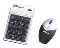Клавиатура и мышь Targus Wireless Keypad Mouse Combo PAKP003E Silver-Black USB