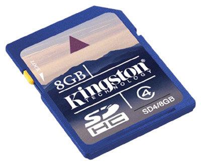 Карта памяти Kingston SD4/8GB