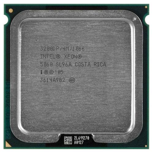 Intel Процессор Intel Xeon 5060 Dempsey (3200MHz, LGA771, L2 4096Kb, 1066MHz)