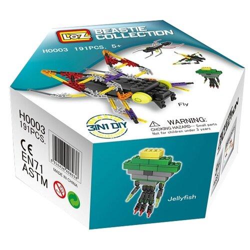 Купить Конструктор LOZ Beastie Collection H0003 Летучая мышь, муравей, муха, медуза, Конструкторы