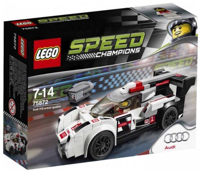 Классический конструктор LEGO Speed Champions 75872 Ауди R18 е-трон кватро