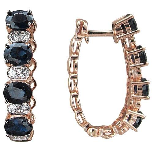 Эстет Серьги с сапфирами и бриллиантами из красного золота 01С6113042-1 ЭСТЕТ