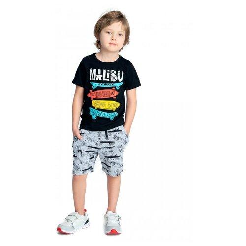 Купить Комплект одежды Веселый Малыш размер 122, черный/серый, Комплекты и форма