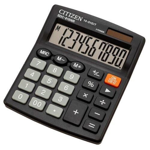Калькулятор бухгалтерский CITIZEN SDC-810NR черный