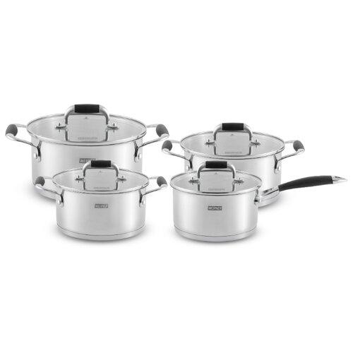 Набор посуды Werner A.Schulz Rocco 50226 8 пр. стальной/черный набор посуды werner ingrid 8 предметов