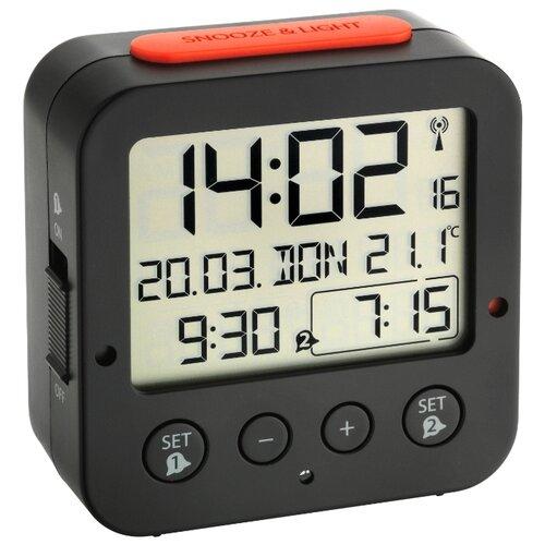 Часы с термометром TFA 60.2528 черный