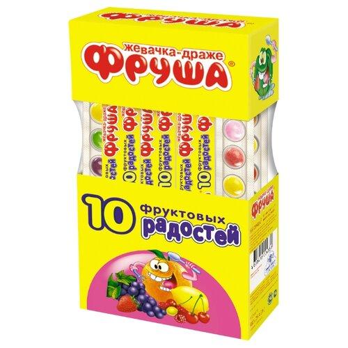 Жевательная резинка Фруша 10 фруктовых радостей 20 г х 24 шт