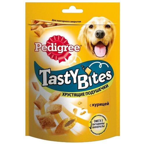 Лакомство для собак Pedigree Tasty Bites хрустящие подушечки с курицей, 95 г