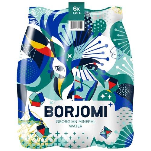 Минеральная вода Borjomi газированная, ПЭТ, 6 шт. по 1.25 л