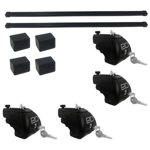 Комплект дуг и опор Евродеталь на интегрированные рейлинги 1.1 м (ED2-112F + ED7-210S) черный