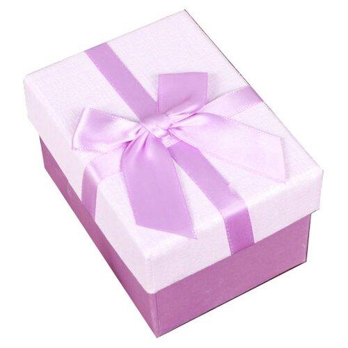 Коробка подарочная Yiwu Zhousima Crafts прямоугольная с бантом 10 х 6 х 7.5 см сиреневый
