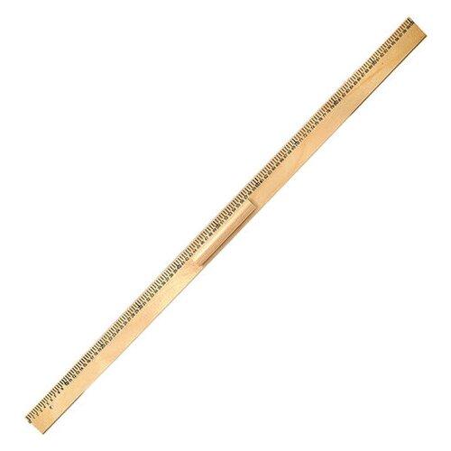 Купить Пифагор Линейка деревянная 100 см (210671) коричневый, Чертежные инструменты