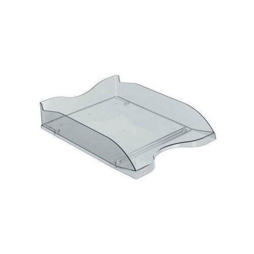 Купить Лоток горизонтальный для бумаги СТАММ Люкс тонированный серый, Лотки для бумаги