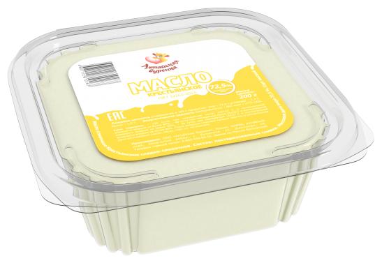 Алтайская Буренка Масло сладко-сливочное Крестьянское 72.5%, 200 г
