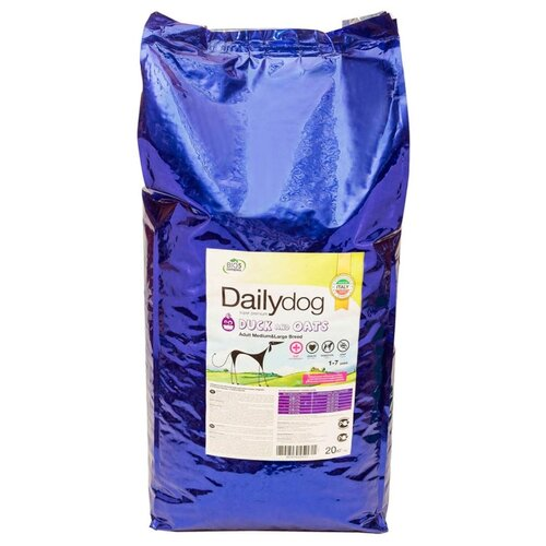 Корм для собак Dailydog (20 кг) Adult Medium and Large Breed Duck and Oats yifang chu oats nutrition and technology
