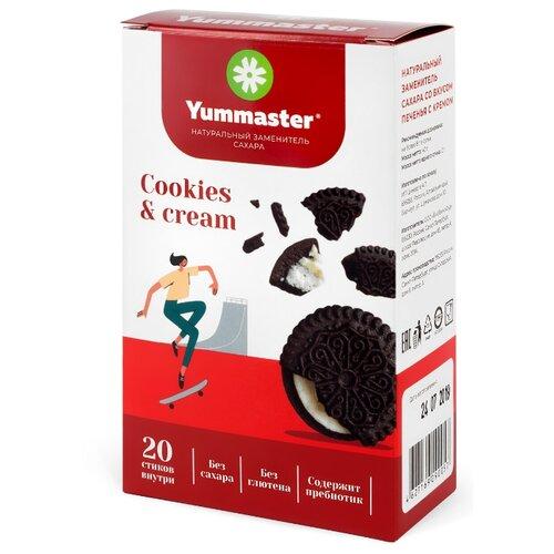 Yummaster Сахарозаменитель со вкусом Печенье-крем в стиках порошок 40 г 20 шт.