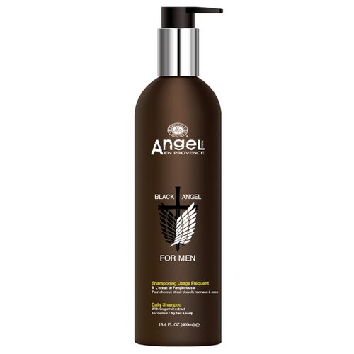Angel Professional шампунь Black Angel For Men для ежедневного применения с экстрактом грейпфрута 400 мл с дозатором