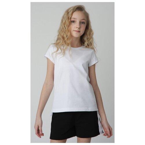 Футболка Gulliver, размер 170, белый платье oodji ultra цвет красный белый 14001071 13 46148 4512s размер xs 42 170