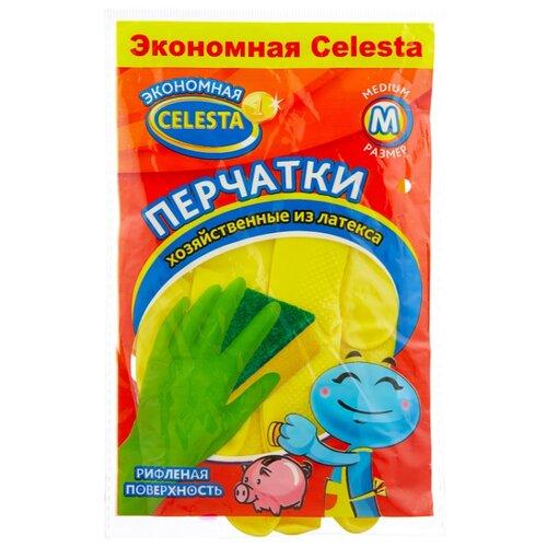 Перчатки Celesta хозяйственные эконом, 1 пара, размер M, цвет желтый