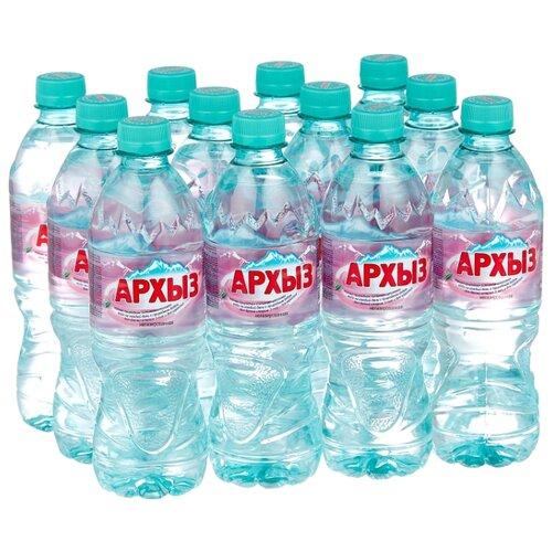 Природная ледниковая вода Архыз негазированная, ПЭТ, 12 шт. по 0.5 л минеральная питьевая столовая вода легенда гор архыз негазированная пэт 1 5 л