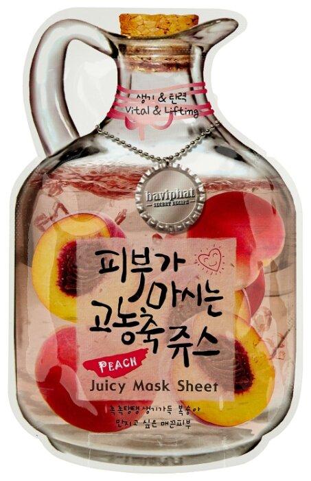 Baviphat тканевая фруктовая маска Peach Juicy Mask Sheet Vital & Lifting