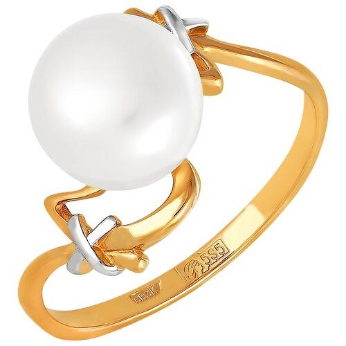 Фото - ПримаЭксклюзив Кольцо с 1 жемчугом из красного золота 190-1-756Р, размер 17 примаэксклюзив кольцо с 1 жемчугом из красного золота 190 1 921р размер 17