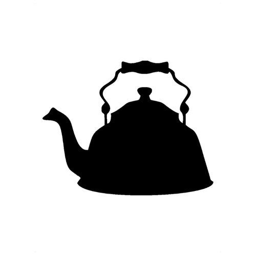 Наклейка Melcom Уютный чайник 04, меловая наклейка