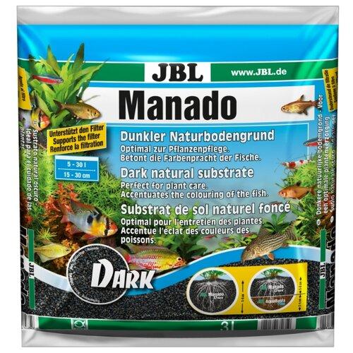 Грунт JBL Manado Dark 3 л, 2.4 кг черный