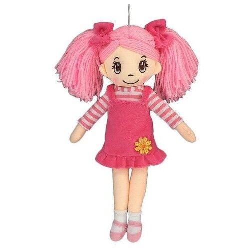 Купить Мягкая игрушка ABtoys Кукла в розовом сарафане 30 см, Мягкие игрушки