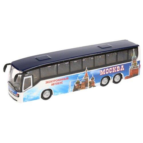Купить Автобус ТЕХНОПАРК CT10-025-2 18.5 см синий, Машинки и техника