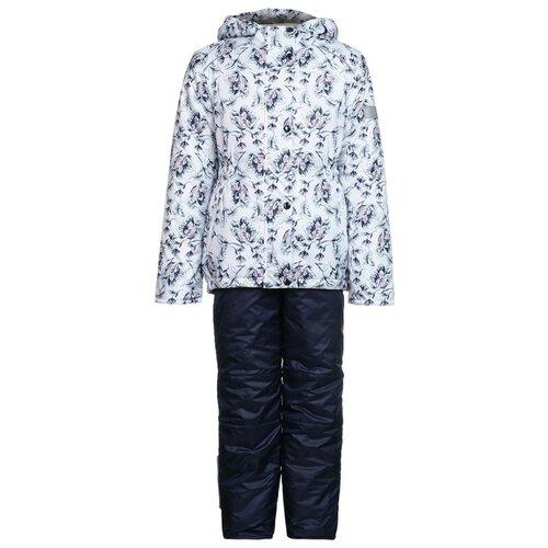 Купить Комплект с полукомбинезоном Oldos размер 92, белый/синий, Комплекты верхней одежды