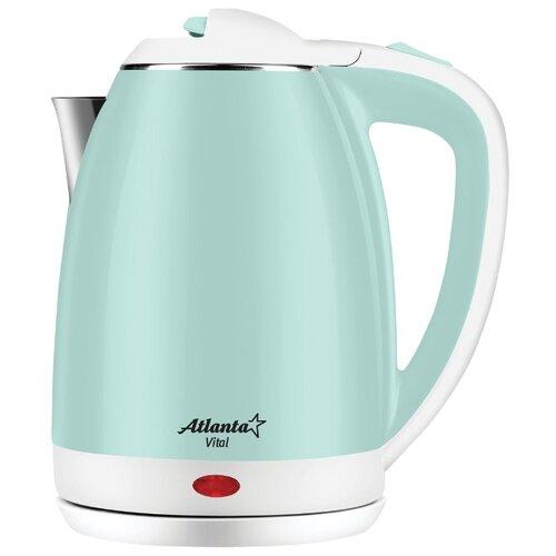 Чайник Atlanta ATH-2437, green весы кухонные atlanta ath 6215 красный