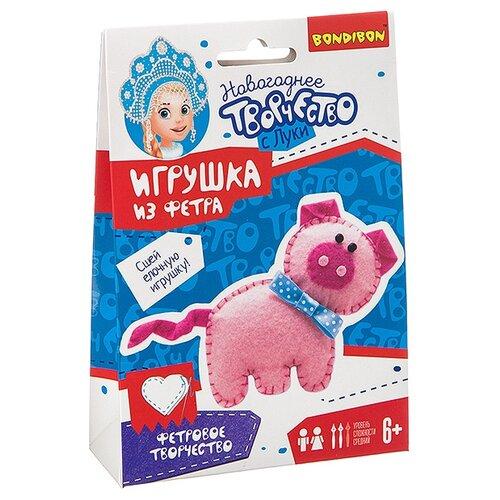 Купить Набор для творчества Bondibon Ёлочные игрушки из фетра своими руками. Свинья , Изготовление кукол и игрушек